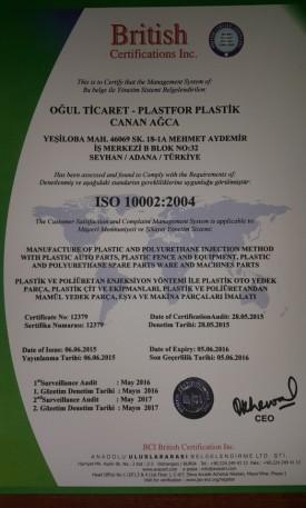İSO belgesi